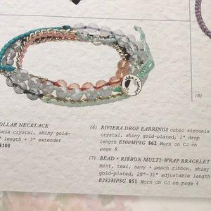 Chloe + Isabel Jewelry - 💌 Bead + Ribbon Wrap Bracelet